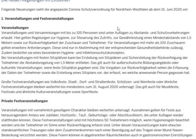 FAQ Land NRW Corona